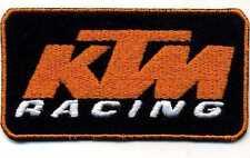 Toppa ricamata patch termoadesiva marchio logo KTM RACING cm. 9 x 4,7
