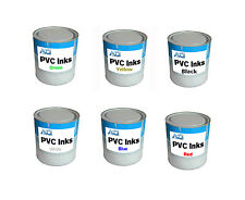 6 Cans PVC Inks for Screen Printing and Pad Printing 1 kg / 2.2 Lb