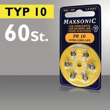 Apparecchi Acustici Maxsonic Batteria ACUSTICO BATTERIA PILA A BOTTONE PR 10