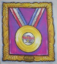 "Hard Rock Cafe ATLANTA 1996 OLYMPICS White Tee T-SHIRT XL 23"" x 18.5"" Gold Medal"
