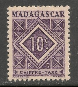 Madagascar (French) #J31 (D3) VF MINT - 1947 10c Postage Due