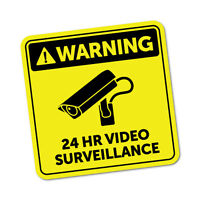 Video Surveillance Sticker Decal Safety Sign Car Vinyl #5997K