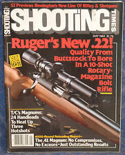 Vintage Magazine SHOOTING TIMES, May 1984 !!! RUGER Model 77/22 RIFLE !!!