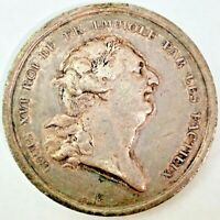 LOUIS XVI SILVER Death Medal 1793 French Revolution 30.2MM