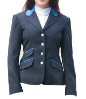 Shires Ladies Kingston Show Jacket with Trimming and Piping Black 30