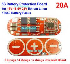18V 21V 18.5V 5S 25A Lithium 5x 3.6V / 3.7V Li-ion LiPo Polymer Battery BMS PCB