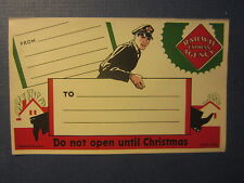 Old 1939 RAILWAY EXPRESS AGENCY - Package LABEL - Do Not Open Until CHRISTMAS