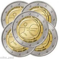Germany  2 Euro,5 Coins Set 2009 ADFGJ SET, EMU, 10th Anniversary KM#  227  UNC