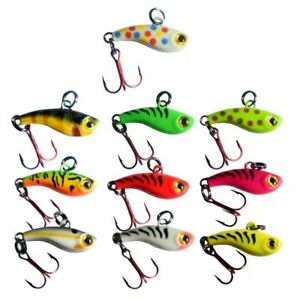 Kenders TUNGSTEN T-Rip Mini Vibe Bait Jig Hard Plastic Ice Fishing Lure