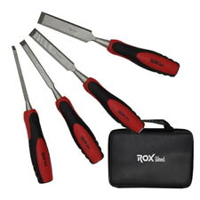 ROX Wood 4 Pieces Set of Wood Chisels in Special Design Eva Bag