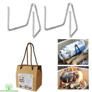 LogSaver Waste Paper Burners for Real Fires (2 Pack) Log Savers Make Free Logs