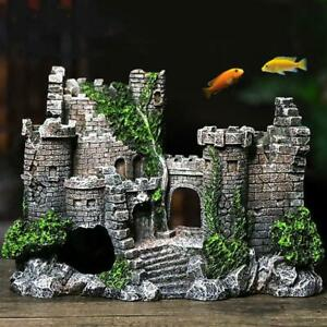 Castle Tower Artificial Fish Tank Aquarium Landscaping Underwater Ornament Decor