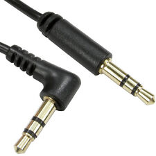 2m 3.5mm Male to Car AUX Plug Stereo Cable/Lead –Right Angled 90 Deg - Straight