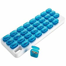 MEDca 31 Day Monthly Pill Organizer Daily Pop-Out Pods Travel Pill Tray Box