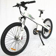"""26"""" electric city E bike bicycle 1000W 48V white lithium LED Moped pedal assist"""
