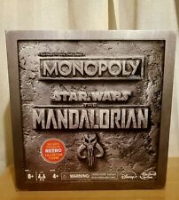IN STOCK Disney Star Wars The Mandalorian Monopoly W/Retro Collection Figure NEW
