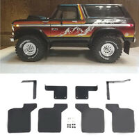 Front & Rear Mud Flaps Rubber Fender for Traxxas TRX-4 Bronco Ranger Mud Guard