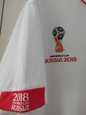 PERU FIFA WORLD CUP 2018 RUSSIA HOME FOOTBALL SHIRT SIZE M WHITE RED
