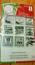 Festive Holiday Inches  Christmas Rubber Stamps  Inkadinkado Cling Set  New 2010