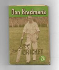 Don Bradman's HOW To PLAY CRICKET ~ 1945 1st Australian Edition