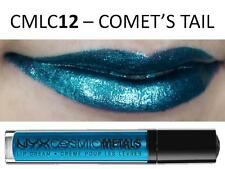NYX Cosmic Metals Lip Cream 'COMET'S TAIL' CMLC12 Baby Blue Silver Shimmer Gloss