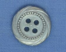 11mm Silver 4 Hole Button (x 2 buttons)