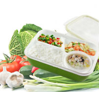 Leakproof Rectangular Lunch Bento Box Kids Adults Microwave Safe Food Container