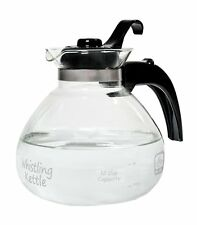 Medelco 12-Cup Glass Stovetop Whistling Kettle
