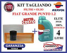 KIT TAGLIANDO OLIO MOTORE REPSOL ELITE 5W30 + FILTRI FIAT GRANDE PUNTO 1.2