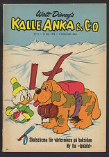 1965 SWEDISH VINTAGE DISNEY KALLE ANKA & C:O DONALD DUCK COMIC #21 SCROOGE COVER