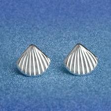 Silver Plated Ear Stud Earrings Shell Cute Earrings FASHION Jewelry Gift