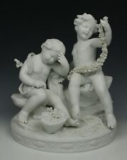 "Dresden Volkstedt figurine ""Cherubs with Garland"" WorldWide"