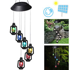 Solar Power Wind Chimes LED Lights For Garden Stake Lamp Yard Outdoor Decor HOT