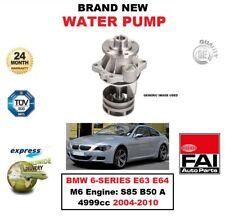 Fai Wasserpumpe für BMW 6er Serie E63 E64 M6 Motor: S85 B50 A 4999cc 2004-2010
