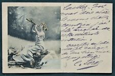 French Theater Actress Cécile Sorel antique signed postcard