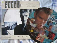 STING 33 TOURS PICTURE DISC SOUVENIR PRESSING