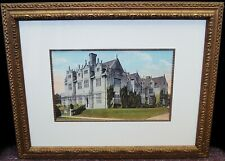 """Unsigned """"Victorian Mansion"""" Vintage Lithograph Print Framed 21x27"""" B4420"""