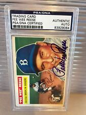 Pee Wee Reese Signed Autographed 1956 Topps Baseball Card  PSA DNA COA