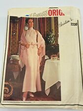 Vintage Vogue Paris Original Pattern 2230 Dior Evening Dress Stole Uncut 14