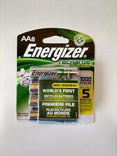 Energizer Rechargeable Batteries AA 8 Pack (NIMH 1.2V 2000mAh NH15-2000) NEW