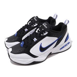 Nike Air Monarch IV 4 White Black Blue Mens Retro Shoes Daddy Sneaker 415445-002