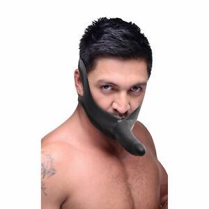 Master Series 6 Inches Black Face Fuk Strap On Mouth Gag Sex Toys Dildo