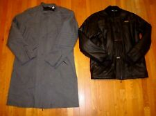 REEBOK 2 Coats in 1 Trench Jacket Insulated Water Resistant Houndstooth Men L XL