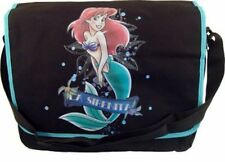 La Sirenita Ariel Little Mermaid Messenger Book Tote Gym Canvas Shoulder Bag