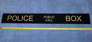 Doctor Who production made prop TARDIS Police Public Call Box Sign Dr. Who BBC