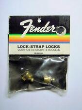 NOS 1980s Fender USA GOLD Schaller Straplocks Made in WEST Germany