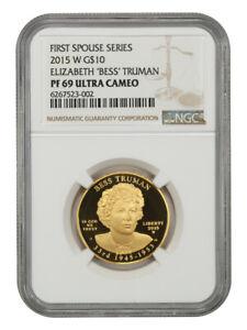 2015-W Bess Truman $10 NGC PR 69 UCAM
