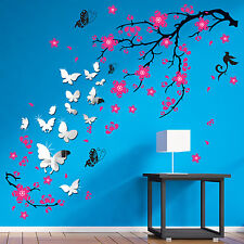 Mural Blossom Flower Nature Wall Stickers Bedroom Paper Art Decal Decoration