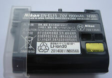 Batterie D'ORIGINE NIKON EN-EL15 ENEL15 7.0V 1900mAh 14Wh GENUINE NEW Battery
