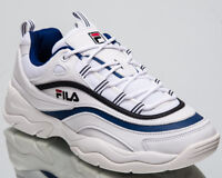 Fila Ray Low Top New Men's Lifestyle Shoes White Blue 2018 Sneakers 1010561-01U